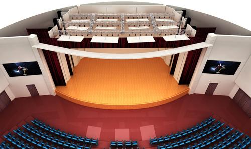 剧院,剧场舞台机械及幕布设计